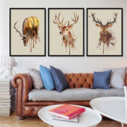 Nordic Deer Elk Canvas Painting Art Print Paintings Poster Wall Picture For Living Room Home Decor
