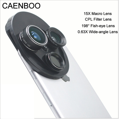 CAENBOO Mobile Phone Lens kit Smartphone Fish eye Lenses Sony Moto Xiaomi  CPL Filter Wide-Angle