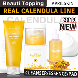 2019 NEW [APRILSKIN]Real Calendula Foam Cleanserl/Pad/Essence/Peel Off Pack