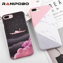 Splice Marble Scrub Phone Cases iPhone 6 6S Plus 7 7Plus 8 8Plus 5 5S SE 3D Aircraft Stars Plastic