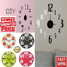 DIY clock/clock/wall clock/meidi clock/led clock/creative/designer/wall stickers/SG Seller