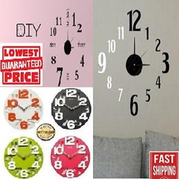 DIY clock/clock/wall clock/meidi clock/led clock/creative/designer/wall stickers/SG Seller