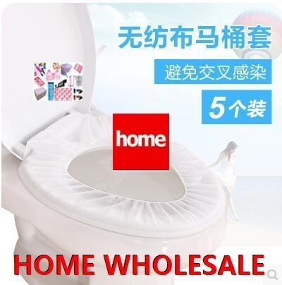 [5SET]Portable Travel disposable toilet mat toilet cover travel essential nonwoven hotel toilet pott Deals for only S$12.32 instead of S$0