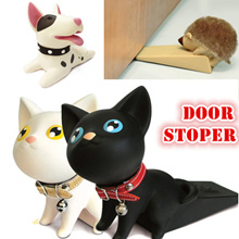 Cute cat dog door stopper/ Hello Kitty/Doraemon/ hairy Porcupine/ Rilakkuma/ Vinyl...New house gifts