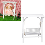 1/12 Doll House DIY Cabin Mini Furniture Model of Creative Gifts Toys Wooden Rocking Swing