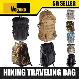 ORIGINAL VOZUKO MILITARY ARMY TACTICAL BACKPACK OUTDOOR CAMPING HAVERSACK  DESSERT TREKKING HIKING
