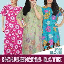 Batik House Dress Get Batik Blouse - Best Seller