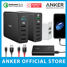 ✪ Anker Singapore Store ✪ 2 / 5 / 6-Port Multi USB Charger PowerBank Cable Qualcomm Quick-Charge 3.0