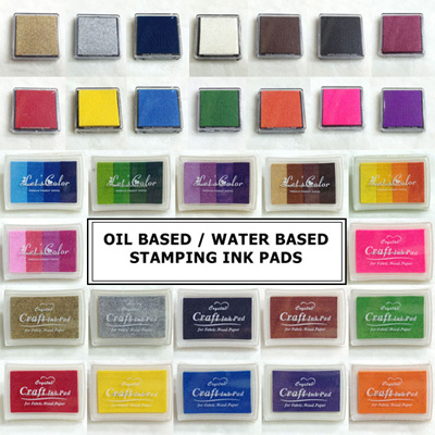 Blue Craft Ink Pads for Kids Pink Green Washable DIY Stamps Partner Rainbow Gradient Inkpad Stamp Kids Printing Stationery of 6 Colorful Brown Orange Blue Purple