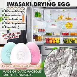 ❤IMP❤ Hot Sell in Japan! Diatomite Deodorizing Dehumidifying Drying Egg Anti Bacteria Reusable