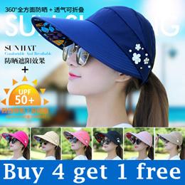 2017 GSS SALE Women Fashion Hats Ladies Adjustable Anti-UV Sunscreen Caps Summer Cool hats girl hats