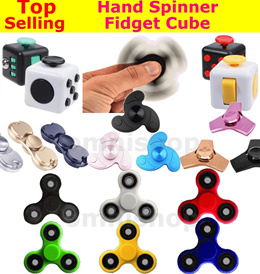 [Buy 1 Get 1 Free +SG Fast Shipping] EDC Hand Spinner Fidget Cube Spinner Stress Toy For Kids Adults