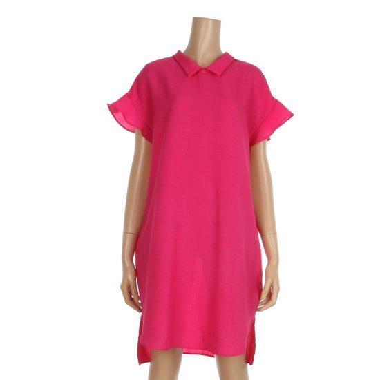レコブ女性衣類カラの後ろのリボンワンピースLU1177OP056X 面ワンピース/ 韓国ファッション