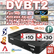 [SG]2018❤GIFT Cable❤ Singapore Digital  DVB T2 TV Box Set-top Box Receiver ★ Indoor Antenna ★Support