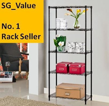 Essential Rack 5 Tier/Durable Shelf/Shoe Storage Rack/Furniture/Fast /Steel Wire Shelf/Storage