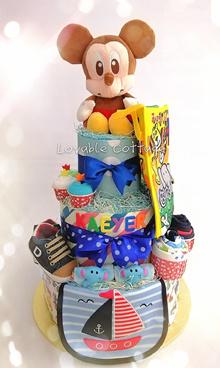 Classic Hamper/ Diaper cake/ Baby hamper/ First Birthday Gift/ Baby Shower gifts/ Baby shower hamper