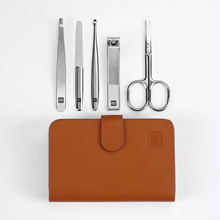 Xiaomi Huohou 5pcs Manicure Nail Clippers Nose Hair Trimmer Kit Stainless Steel Nail Cutter Tool Set