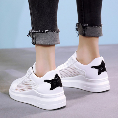 latest discount biggest selection pretty cool Breathable mesh Small white shoes girls 2018 spring Summer stars sports  shoes students casual shoe