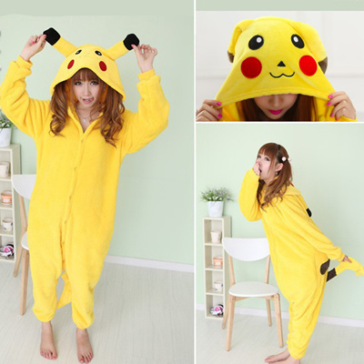 6f79f36fac71 Pikachu Anime Costumes Adult Cartoon Animal Onesies Sleepwear Cheep☆Pyjama  Onesie Sleepwear Hoodie