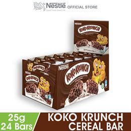 NESTLE KOKO KRUNCH Chocolate Cereal Bar 24 Bars 25g Each