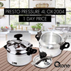 [ Free Shipping Jabodetabek ] OX-2004 ALUPRESS Alumunium Pressure Cooker Oxone 4Lt