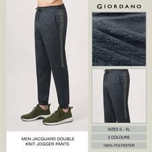 Men Jacquard Double Knit Jogger Pants