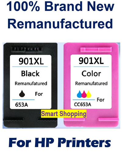 [Hewlett-Packard ]901XL Black 901 XL ink cartridge for HP Printers  Remanufactured Colour Compatible HP901 HP901XL Officejet 4500 J4524 J4530  J4540