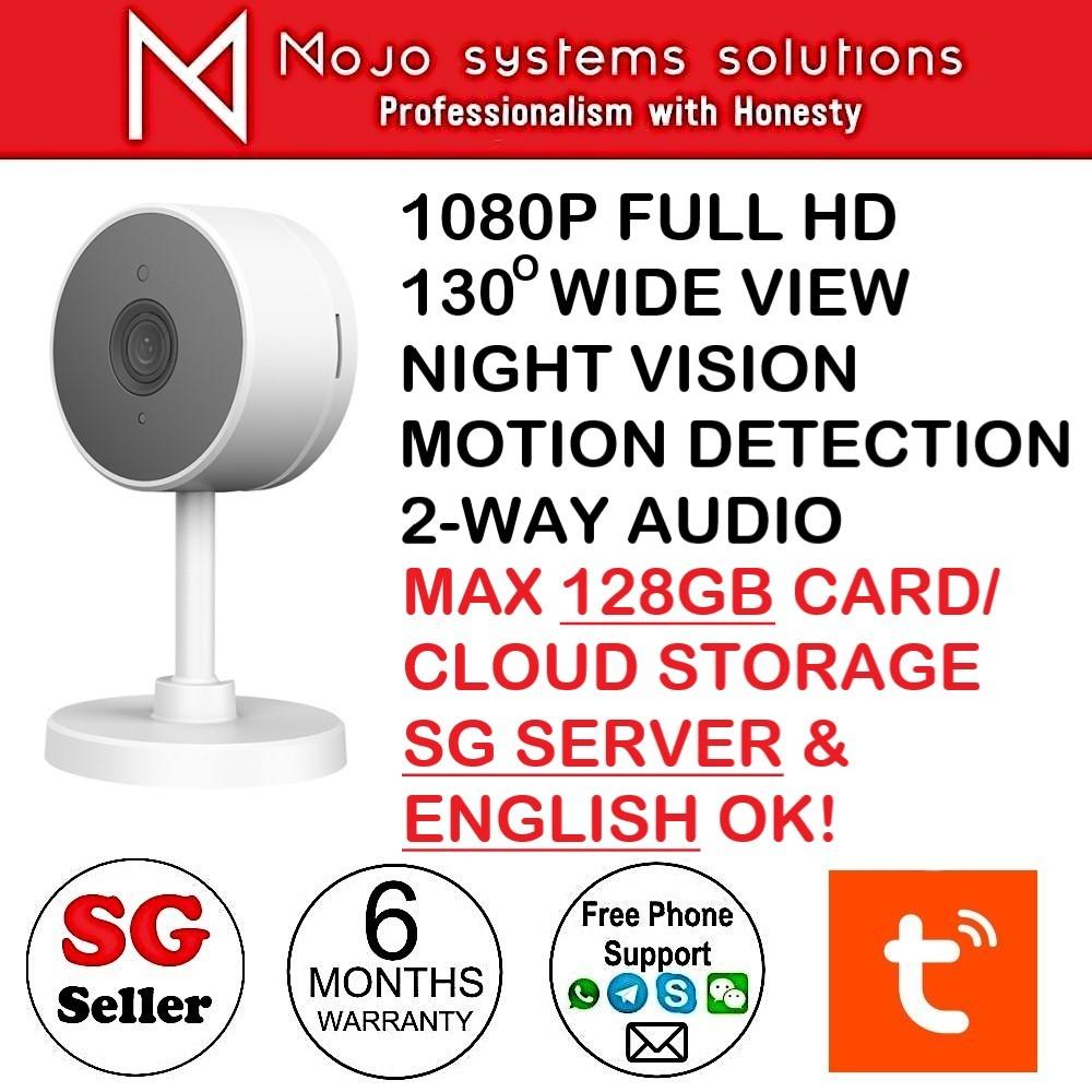 Smart LifeTuya Smartlife Home Security Camera 1080P 130 Deg View Night  Vision Motion Detection max 128GB