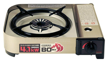 Iwatani Cassette Burner BO (Beau) EX [Strengthening power stove / maximum calorific value 4.1kW] Hairline Silver CB-AH-41 / Japan Shipping / Free Shipping