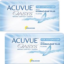 【Domestic Distribution Products】 2 Week Accuview Oasis for Astigmatism × 2 Boxes Johnson  Johnson 【Contact Lens 2 Week Accuview Oasis for Astigmatism】 (Contact Lenses / Contact Supplies / 2week /