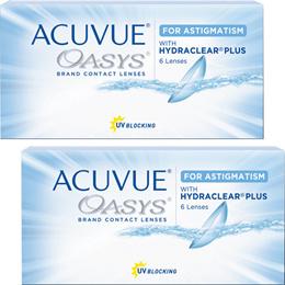 2ウィーク アキュビュー オアシス 乱視用 TORIC 【6枚入】 2week contact For astigmatism 【2箱】