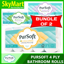 Pursoft 4 Ply Toilet Paper Toilet Roll Tissue Unscented/Citrus/Green Tea/Lavender
