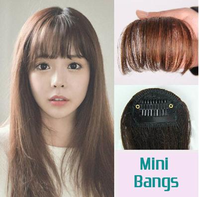 Seamless Hair Extensions Air Bangs Wig Piece The Forehead Bangs Korean Air  Natural Small Mini Wig f56b1dfbc0bb