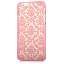 [LUXURY VINTAGE FLOWER PATTERN PROTECTIVE PHONE TRANSPARENT CASE BACK COVER FOR IPHONE 6 PLUS / 6S P