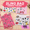 FREE ONGKIR JABODETABEK Slingbag Pouch Patches Carnival 4 Colors