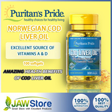 Omega 3 + Multi-Vitamins [Puritans Pride] Norwegian Cod Liver Oil 415 mg  / 1000mg