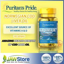 Omega 3 + Multi-Vitamins [Puritans Pride] Norwegian Cod Liver Oil 415 mg  / 1000mg