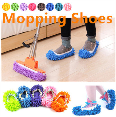 Lazy Slippers Sweep Dust Mop House Bathroom Floor Cleaning Mop Cleaner  Slipper Washable Mopping Shoe
