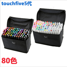 TOUCHNEW 80 Colors Artist Dual Head Sketch Copic Markers Set for Manga Marker School  Free gift