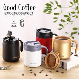Stainless Steel Thermal Coffee Mug Bubble Tea Cup Vacuum Insulated Travel Mug