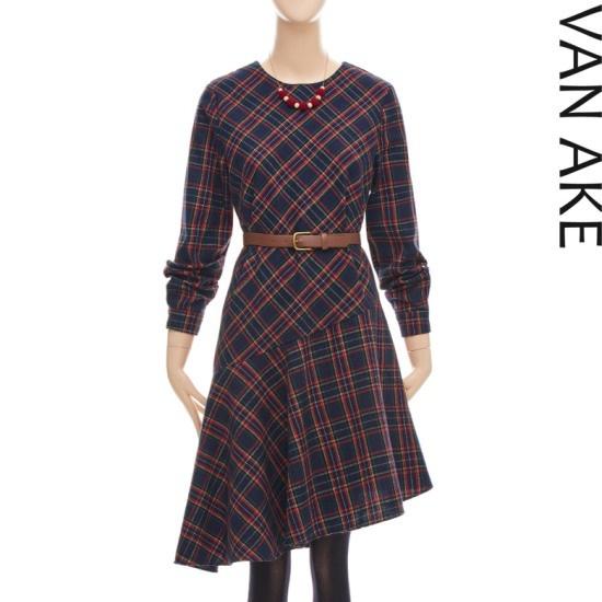 バンエイクオンバルランスコッチェックワンピースV7W1OP4541 面ワンピース/ 韓国ファッション