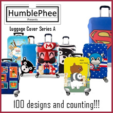* BUY 1 FREE 1 WATER BOTTLE* Elastic Travel Luggage Bag Protector Cover 100+ Designs SG Seller