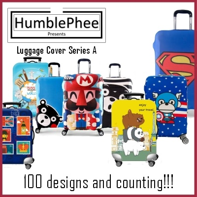 *Buy 1 Free 1 Luggage Belt* Elastic Travel Luggage Bag Protector Cover 100+ Designs Deals for only S$30 instead of S$30