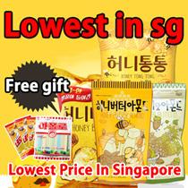 Honey butter almond 250g / Honey butter almond 35g / wasabi almond 210g / healthy snack korean food
