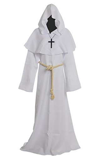 (Amayar) Friar Medieval Hooded Monk Renaissance Priest Robe Costume Cosplay  sc 1 st  Qoo10 : priest robe costume  - Germanpascual.Com