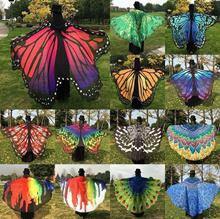 Foonee® Multifunctional Chiffon Neck Scarf Shawl Cloak Butterfly Wings Peacock Print Beach Towel Sha