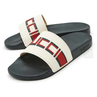 66fe70781ae2f9  구찌  Gucci Stripe Rubber Slide 522884 JC200 9566 Man Sandals Slippers