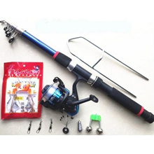 Long shot 18PCS/SET fishing rod suit sea rod 2.4 meters gear lever