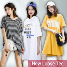 casual tee dress/ Plus size/Loose Fashion T-shirt*/Short-sleeved T-shirt/tops/dress/cotton