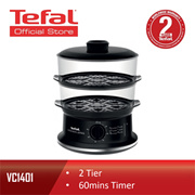 Tefal 2 Tier 6L Automatic Convenient Steamer Food Steamer VC1401